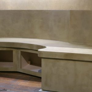 Faux Concrete Effect Booths For Freud Bar, Covent Garden