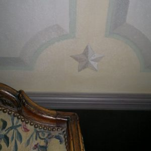 Fresco Finishes With Star Motif And Trompe L'oeil Panels