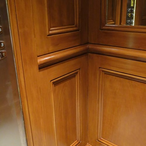 Faux Satinwood Graining For Lift Interior