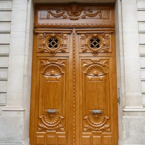 Grand Faux Bois Doors, Avenue Foch, Paris