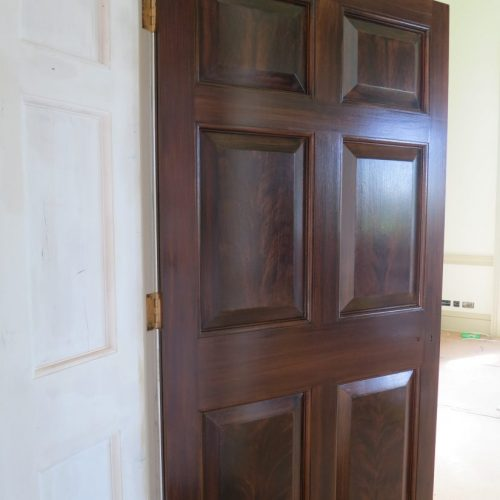 Faux Mahogany Wood Graining On Doors At King's Observatory, Kew