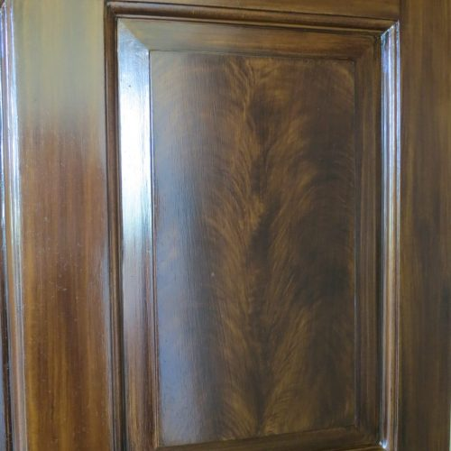 Feather Mahogany Wood Graining On Door Panel