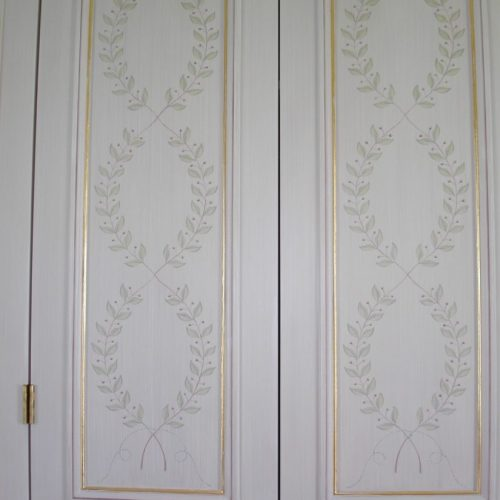 Empire Style Painted Wardrobe Doors, Belgravia