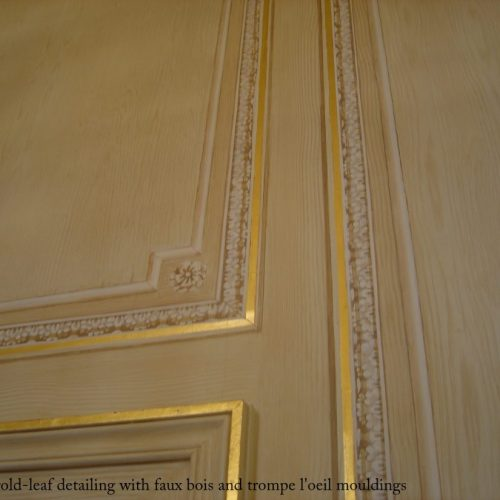 Trompe L'oeil Mouldings With Gilding On A Faux Bois Background, Hyde Park