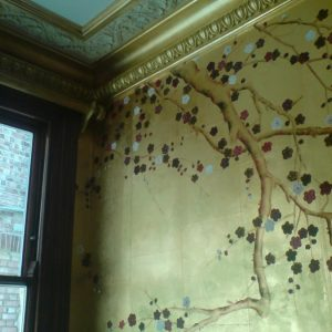 Gold Pearlescent Painted Cornice