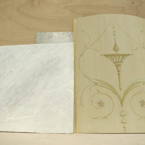 Hand Painted Samples For Bedroom Scheme, Belgravia