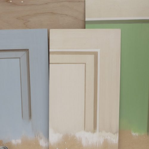 Trompe L'oeil Panel Samples For Laduree Of Paris