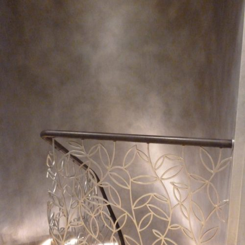 Fumed Silver Walls Light Up A Staircase In Regents Park