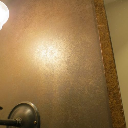 Specialist Paint Finish Creates Patinated Bronze And Gold Walls