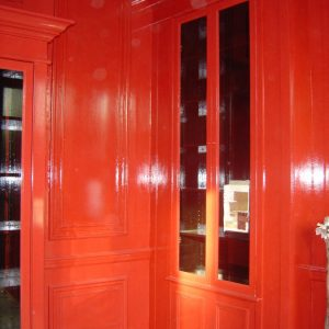 Faux Chinese Red Lacquer Finishes, Knightsbridge