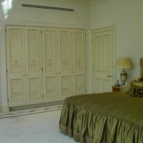 Painted Wardrobes Feature Hand Painted Neoclassical Motifs And Gilding