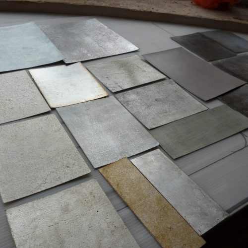 Silver Finish Samples In Specialist Decorator's Studio