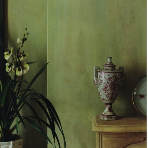 Faux Antique Drab Silk Walls For Georgian Interior, Knightsbridge