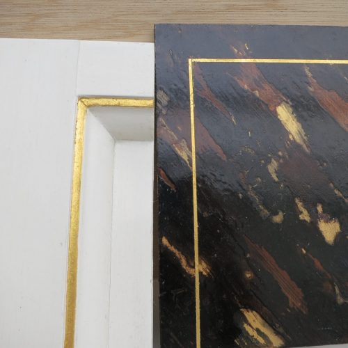 Samples Of Faux Tortoiseshell And White Lacquer Panels