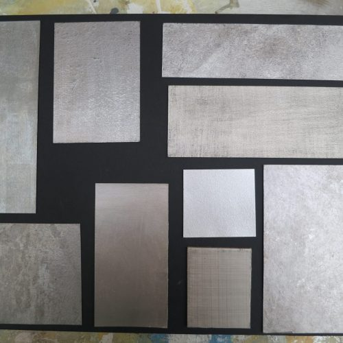 Selection Of Silver Wall Finish Samples