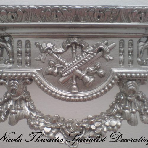 White Gold Leafed Console Table By Nicola Thwaites Specialist Decorating