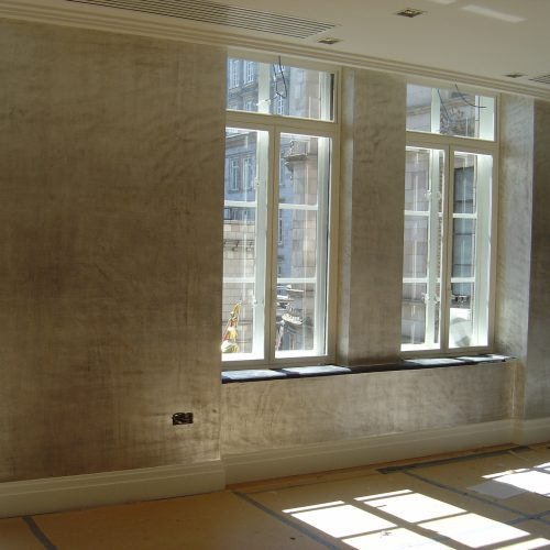 Distressed Silver Leaf Finish, Art Deco Style, London