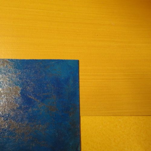 Specialist Decorating Samples Showing Blue Lacquer And Amber Glazes