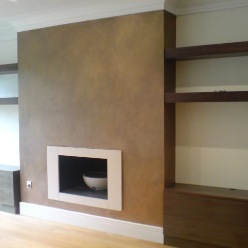 Bronze Effect Painted Chimney Breast