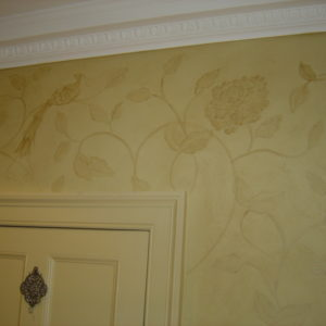 Faux Chinoiserie Wallpaper, Belgravia Residence