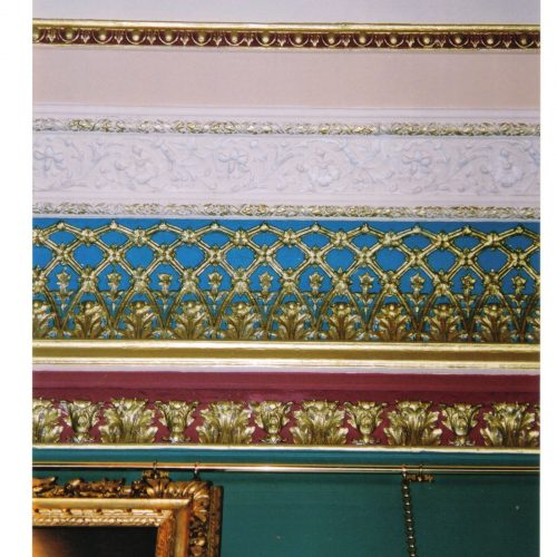Painted And Gilded Cornice At The Garrick Club, London