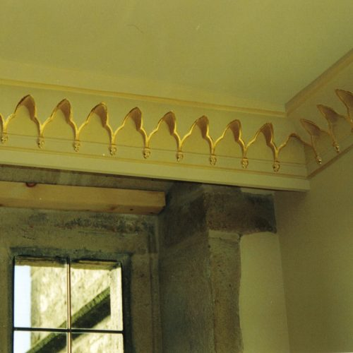 Gilded Cornice At Jacobean Manor In Yorkshire