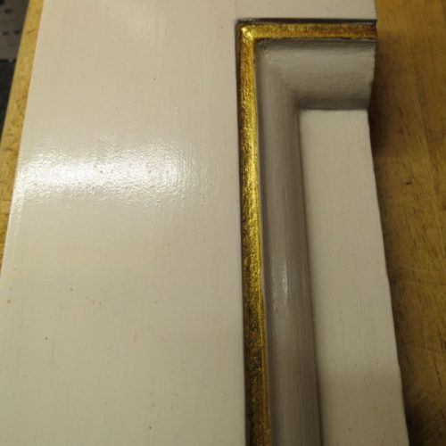 Sample Of Imitation Antique White Lacquer