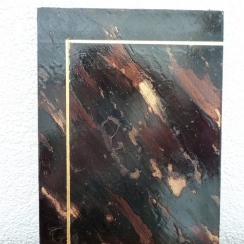 Lacquered Tortoiseshell Effect With Gold Leaf