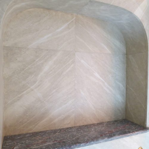 Marbled Alcove By Specialist Decorator