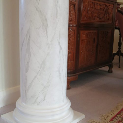 Marbling Or Faux Marble Effect On Classical Column