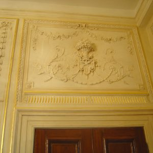 Decorative Plasterwork Restored With Traditional Painted Glazes And Gilded Details