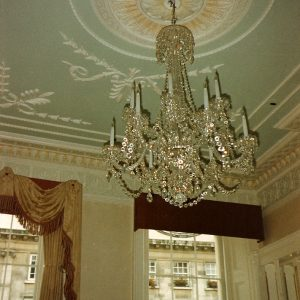 Traditional Stipple And Wipe On Ceiling Rose, Belgravia, Illustrating Use Of Traditional Painted Glazes