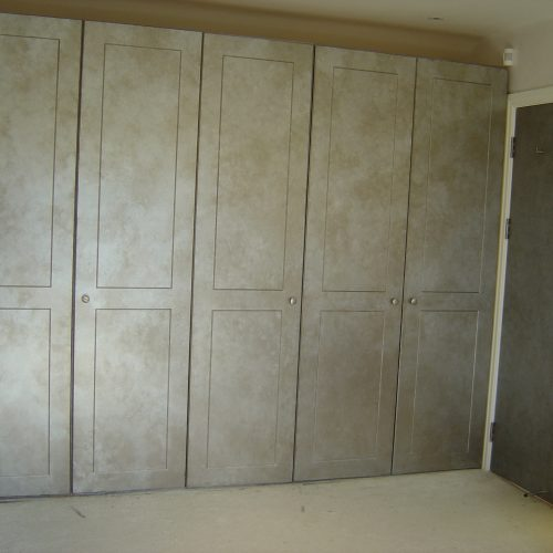 Painted Faux Pewter Effect Wardrobes