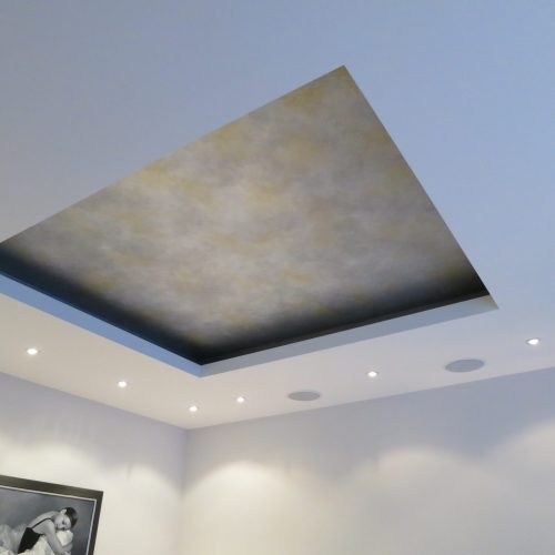 Silver And Gold Paint Effect For Sunken Ceiling - Mayfair