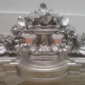 White Gold Leaf Applied To 18th Century Console Table