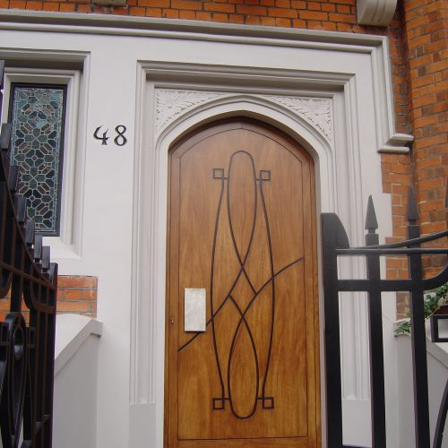 Wood Graining For Arts & Crafts Door, London