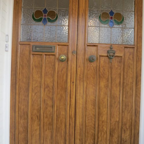 Wood Graining In Walnut For Arts And Crafts Door