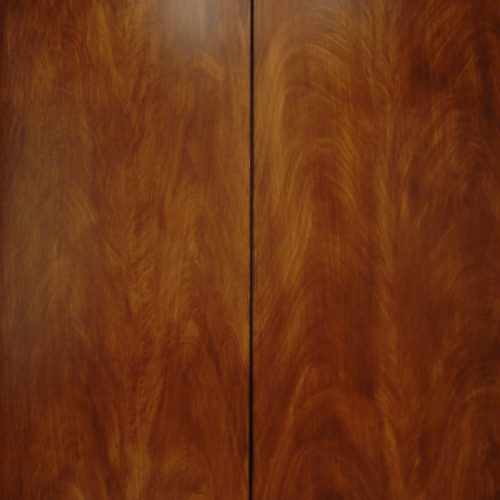 Wood Graining Example Of Flumed Mahogany