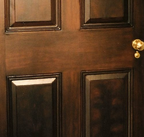 Wood Graining - Faux Mahogany Door