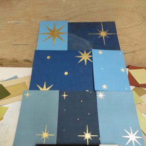 Gilded Stars - Samples For Altarpiece At London Church