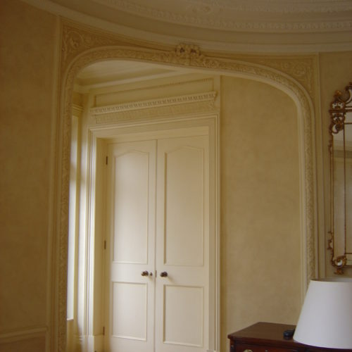Ivory Fresco Wall Treatment For A Hausmann Apartment
