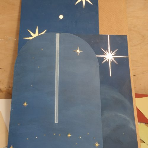 Pisces Star Design - Working Samples For Church Altar