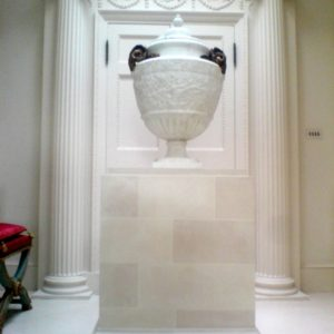 Stone Blocked Neoclassical Plinth