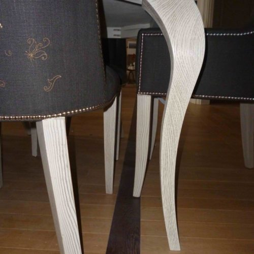 Wood Grained Chair Legs To Match In With Table Legs