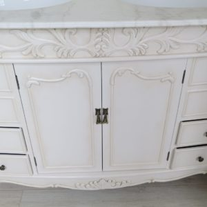 Vanity Unit Painted With Antique Ivory Effect