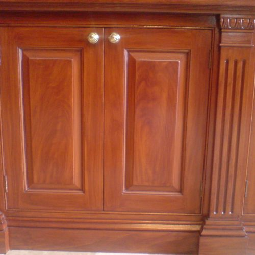 Faux Mahogany Wood Grained Book Case