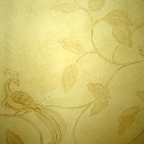 Hand Painted Chinoiserie Style Wallpaper